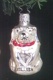 Sitting Puppy<br>Old World Christmas Ornament